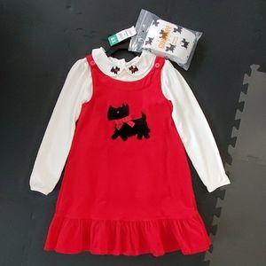 Gymboree Girls 3-Piece Corduroy Dress Set NWT 6X